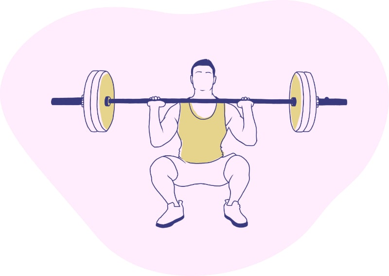 A Person Lifting Weights
